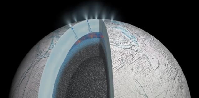 Il y aurait des sources hydrothermales sur Encelade, une lune de Saturne 13784811