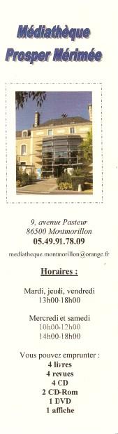 Médiathèque Prosper Mérimée de Montmorillon Numar457