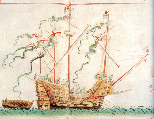 La Grande Françoise, le Henri Grâce à Dieu et le Vasa. 800px-11