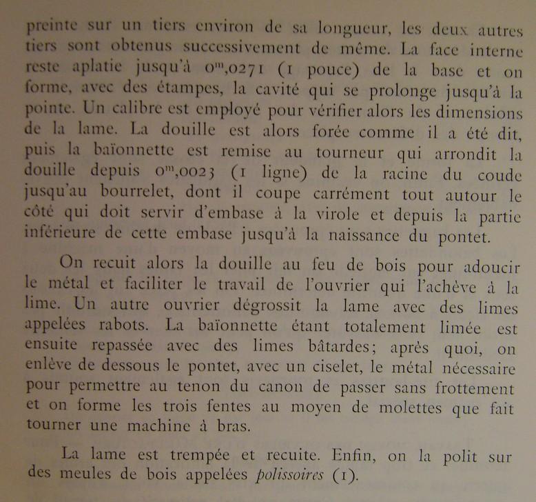 Différences entre les baïonnettes AN IX, 1822 et 1847 et leur fabrication. Dsc06832