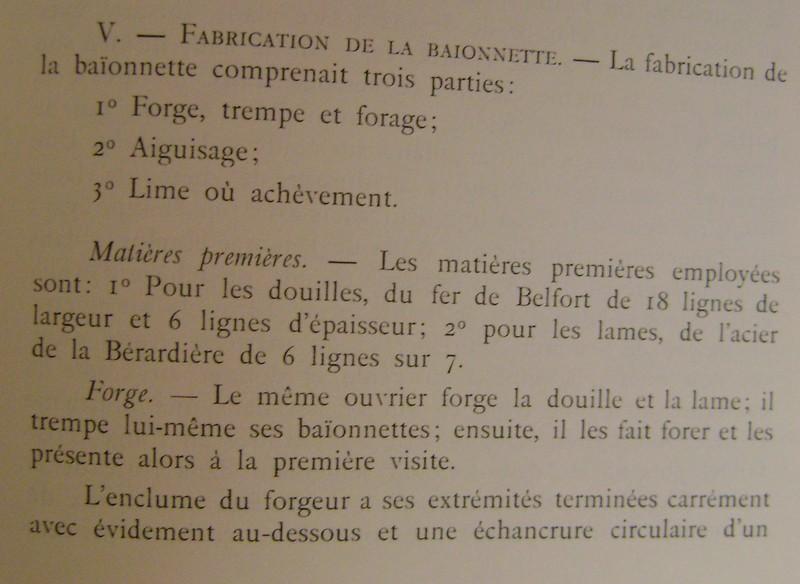 Différences entre les baïonnettes AN IX, 1822 et 1847 et leur fabrication. Dsc06833