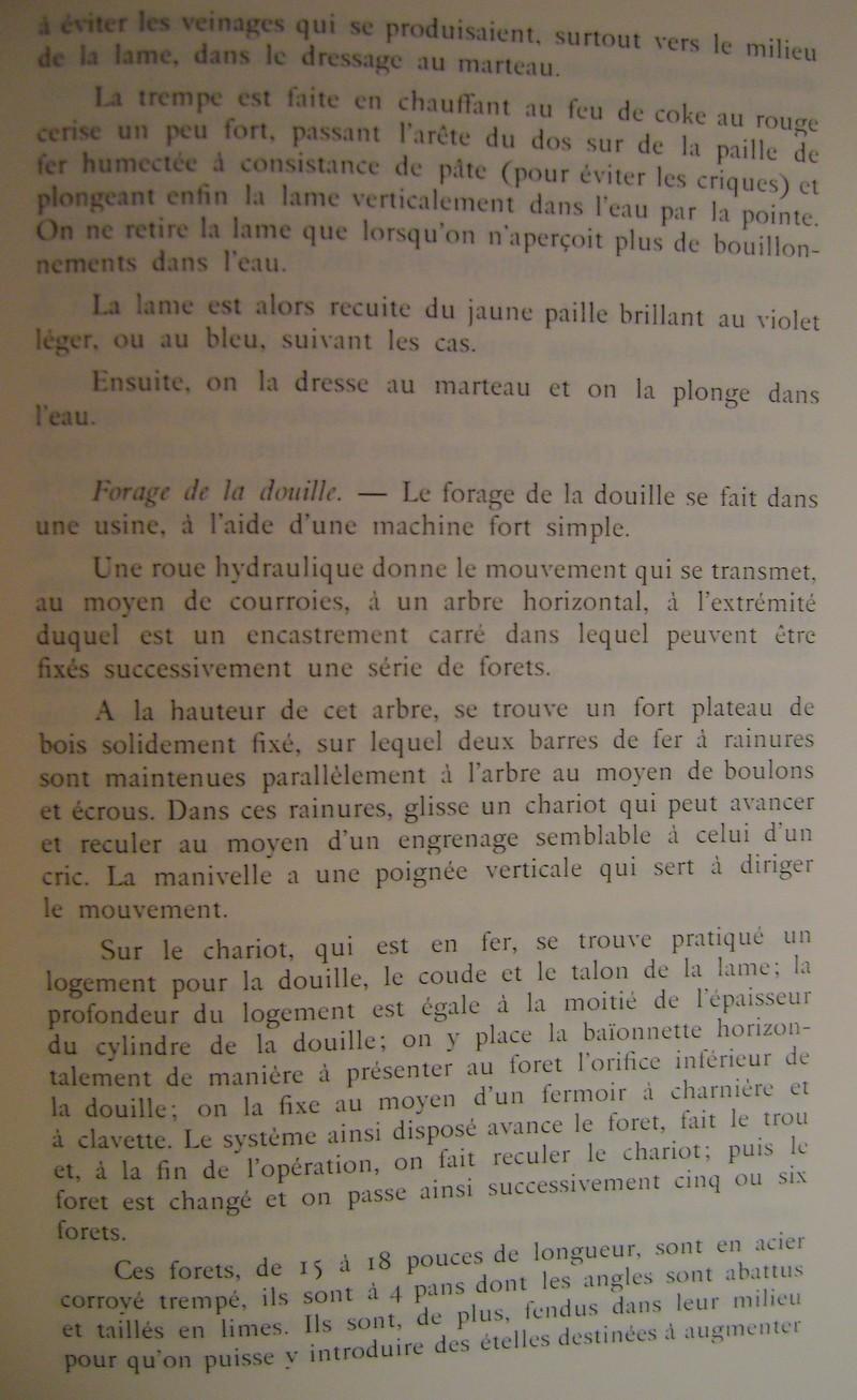 Différences entre les baïonnettes AN IX, 1822 et 1847 et leur fabrication. Dsc06835