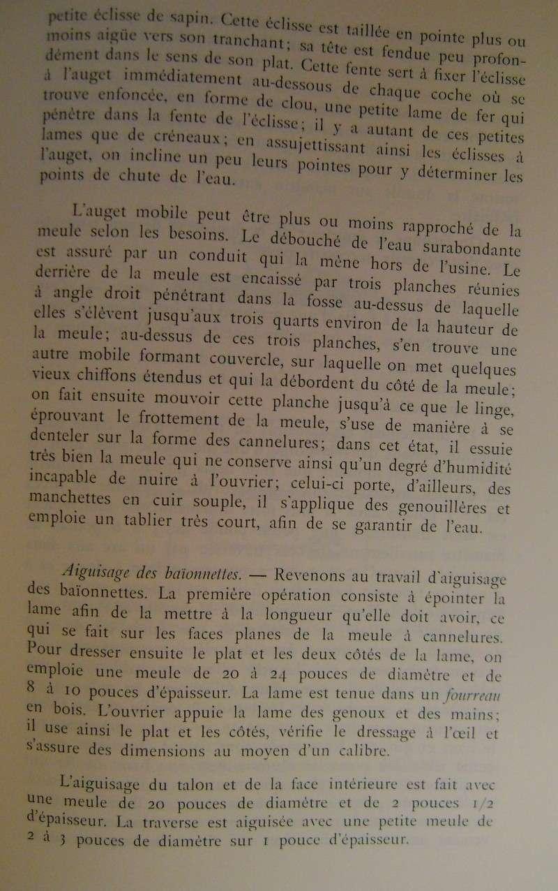Différences entre les baïonnettes AN IX, 1822 et 1847 et leur fabrication. Dsc06837