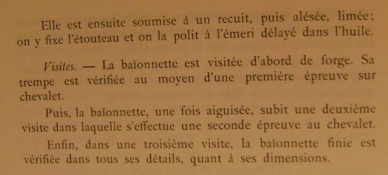 Différences entre les baïonnettes AN IX, 1822 et 1847 et leur fabrication. Dsc06840