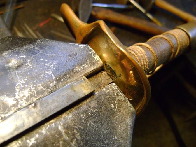 Restauration d'un sabre de cavalerie légère 1822. Dsc07065