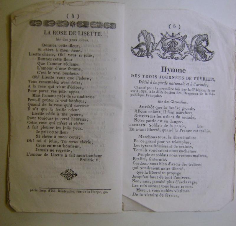 Chansons de la révolution de 1848. Dsc07159
