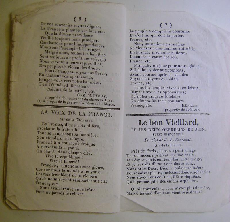 Chansons de la révolution de 1848. Dsc07160