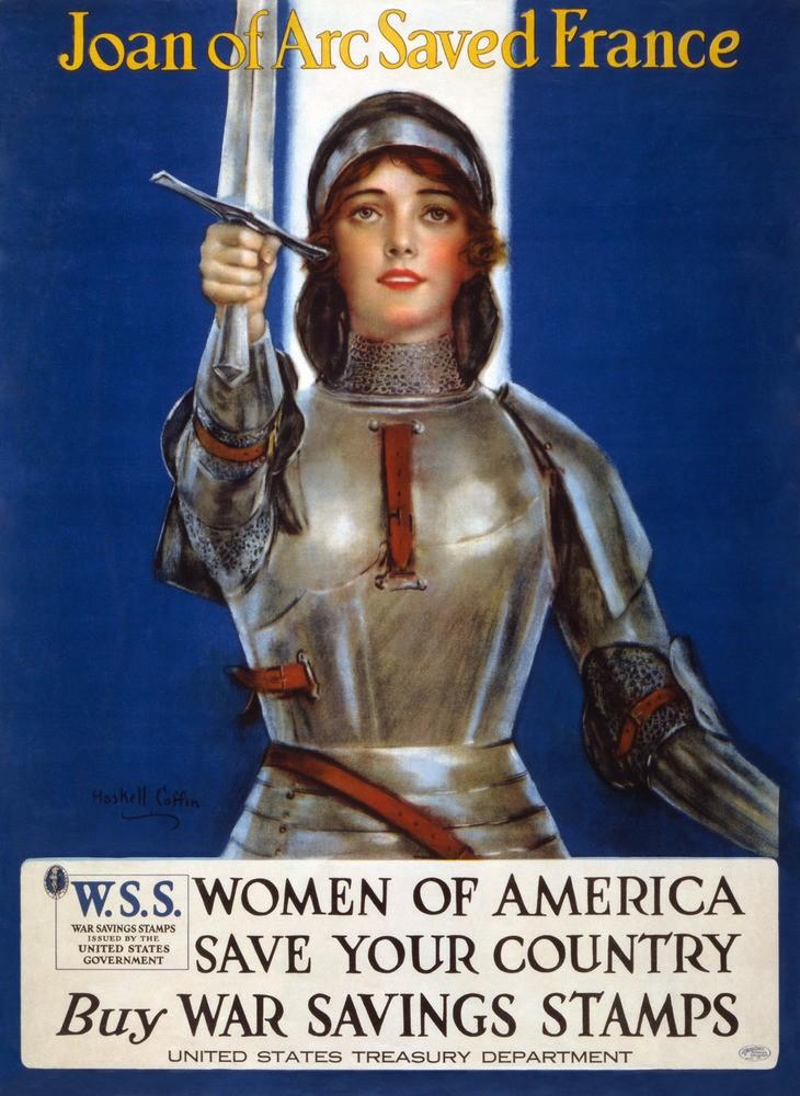 Sixième centenaire de la naissance de Jeanne d'Arc. Joan_o10