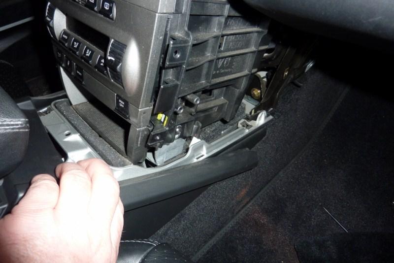 demontage console centrale P1020618