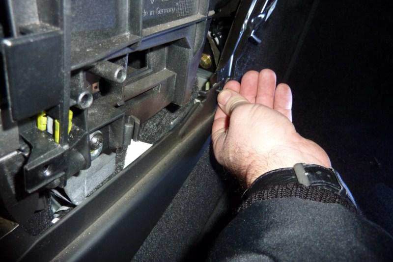 demontage console centrale P1020710