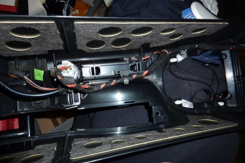 demontage console centrale P1020720