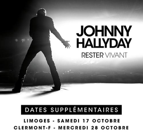 """Tournée 2015/2016 de johnny """"RESTER VIVANT """" Dates de tournée et Part 1 les festivals Captur22"""
