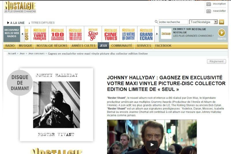 JOHNNY HALLYDAY : GAGNEZ EN EXCLUSIVITÉ VOTRE MAXI VINYLE PICTURE-DISC COLLECTOR EDITION LIMITEE DE « SEUL » Captur65