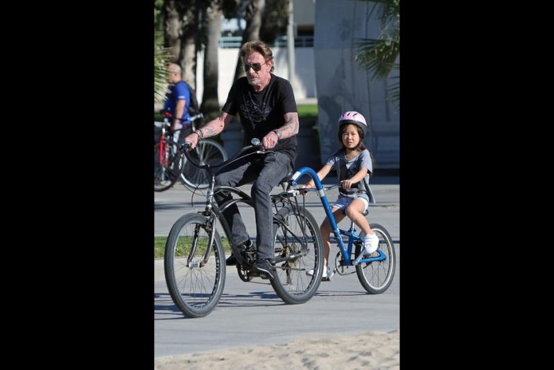 Johnny  avec Joy à Santa Monica, le 24 janvier 2015 Johnny25
