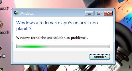 Windows 7 qui crash Error110