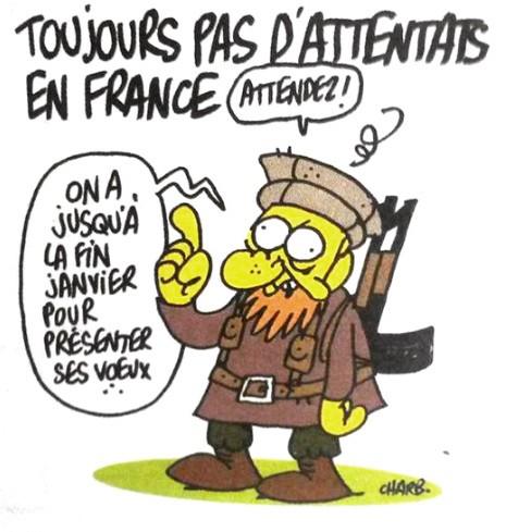 Réactions suite à l'attentat de Charlie-Hebdo.  Charb10