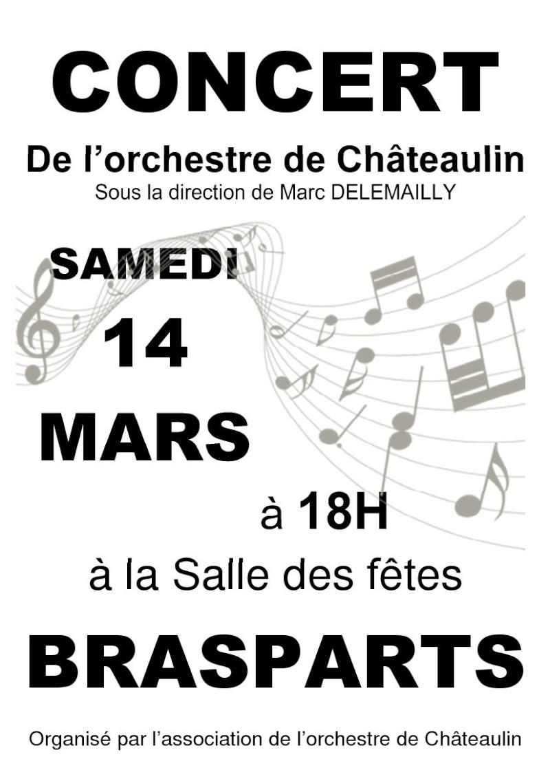 Concert de l'orchestre de Châteaulin à Brasparts le 14 mars 2015 Affich11