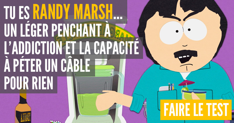 [Test] Quel personnage de South Park es-tu ? Randy10
