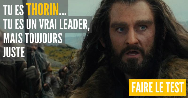 "[Test] Quel personnage du ""Hobbit"" es-tu ? Thorin10"