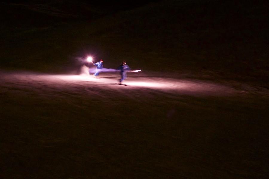Descente aux flambeaux - ESF ESI - PRALOUP - Alpes du Sud 2015-016