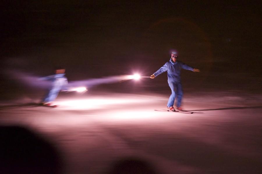 Descente aux flambeaux - ESF ESI - PRALOUP - Alpes du Sud 2015-017