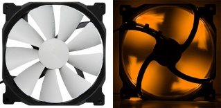 FS-2* Phanteks High Quality Orange LED Fan PH-F140SP 83CFM MTBF >150,000 H Phante13