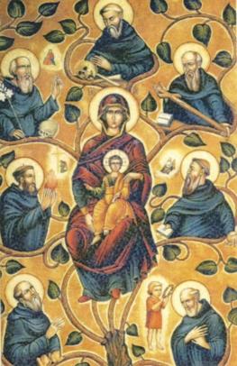 Les sept Saints Fondateurs de l'Ordre des Servites Lechar10