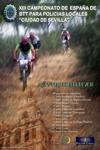 XIII CAMPEONATO DE ESPAÑA DE BTT PARA PPLL SEVILLA 1,2 y 3 Octubre 2010 Cartel13