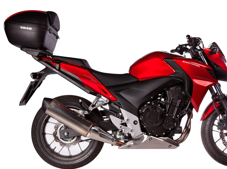 Do I need specific hardware to mount a top case on my Honda CB500X CB500F (13-14)? A_shad10