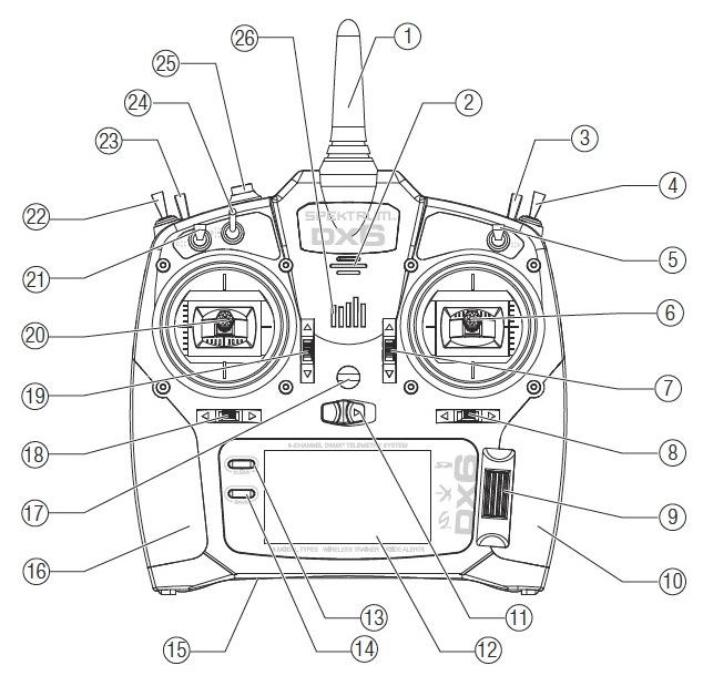 Réglage des boutons de la radio Spektrum DX6i V2 Captur14