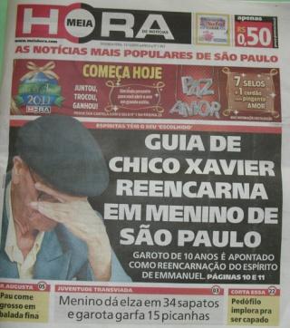 Le guide de Chico Xavier (Emmanuel) est réincarné dans un petit garçon de São Paulo Meiaho10