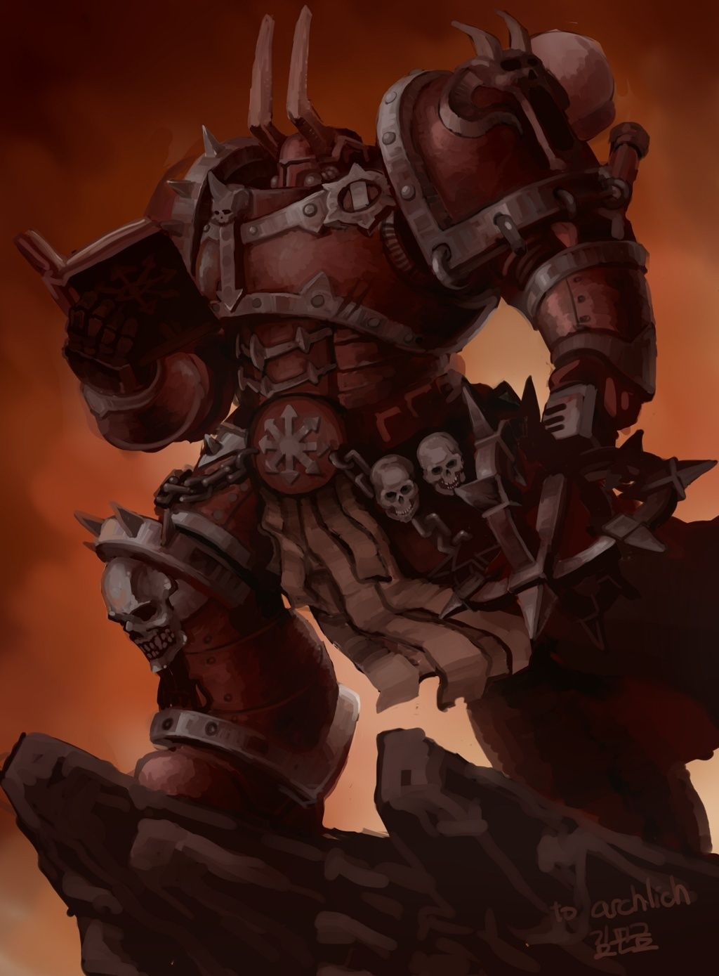[W40K] Collection d'images : Space Marines du Chaos - Page 6 Dark_a12