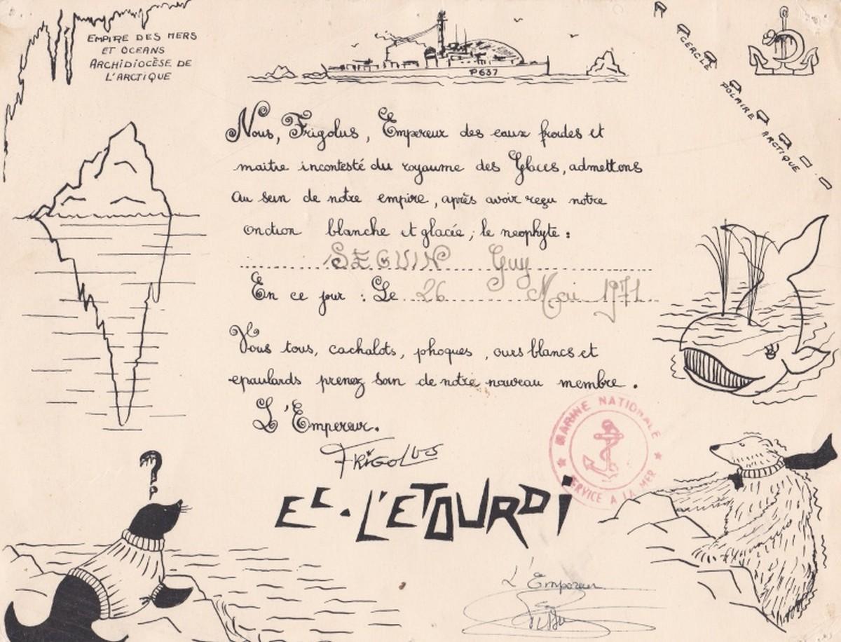 [Les traditions dans la Marine] Passage du cercle polaire (Sujet unique) - Page 3 0104