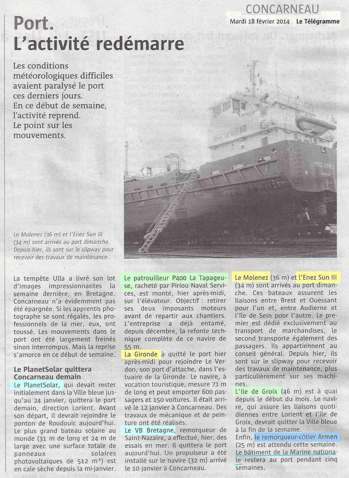[Vie des ports] LE PORT DE CONCARNEAU - Volume 005 - Page 32 1435