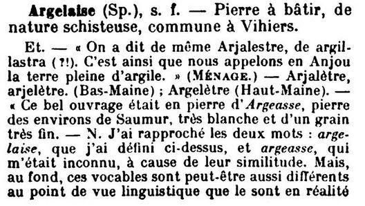 Argelette, Arjaletre (fausse ardoise ou ardoise grossière), Arjalette Glossa10
