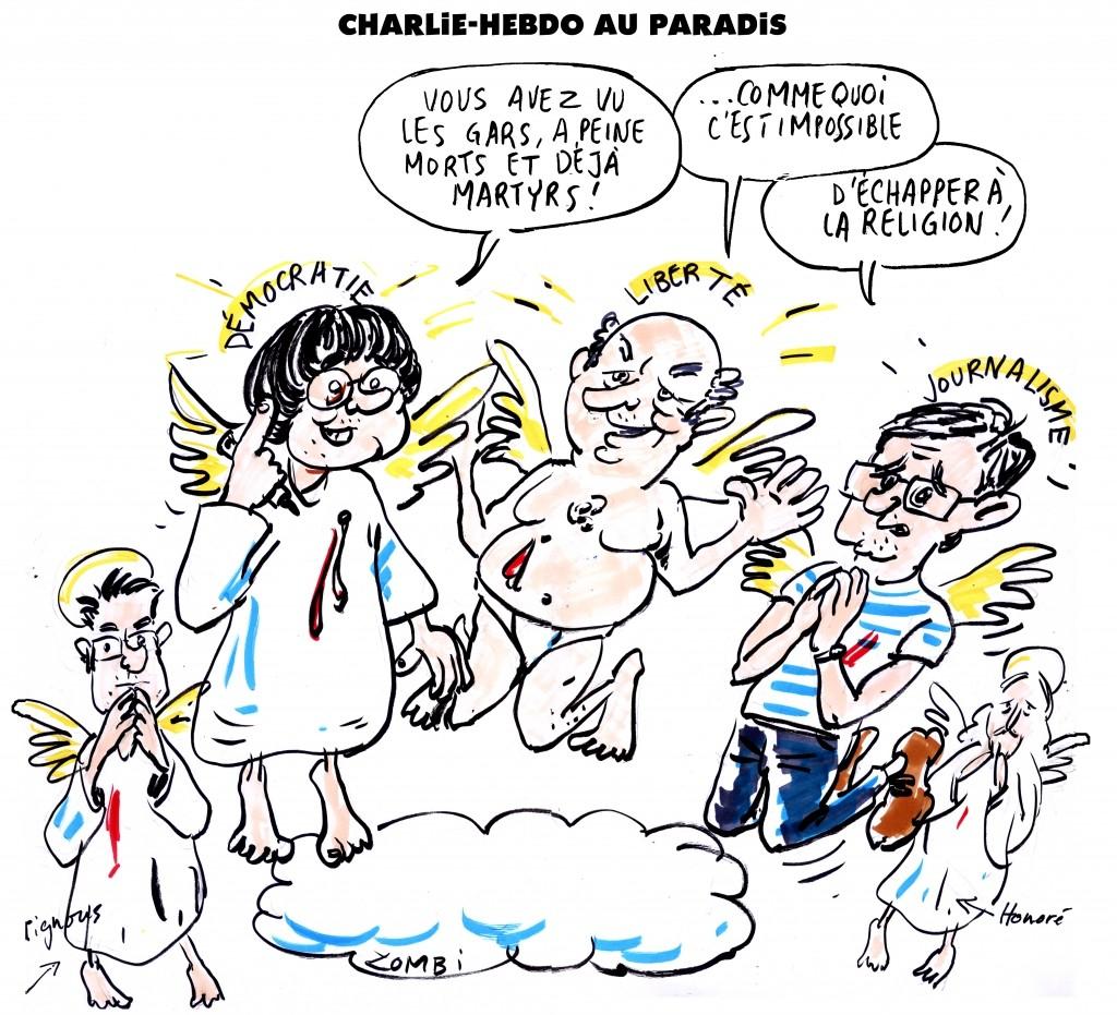 Cabu, Wolinski, Charb, Tignous et Honoré... Je suis Charlie Zombi10
