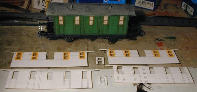 Behelfs-Personenwagen der K. Sächs. Sts. E.B. in HO  die zweite 149-110