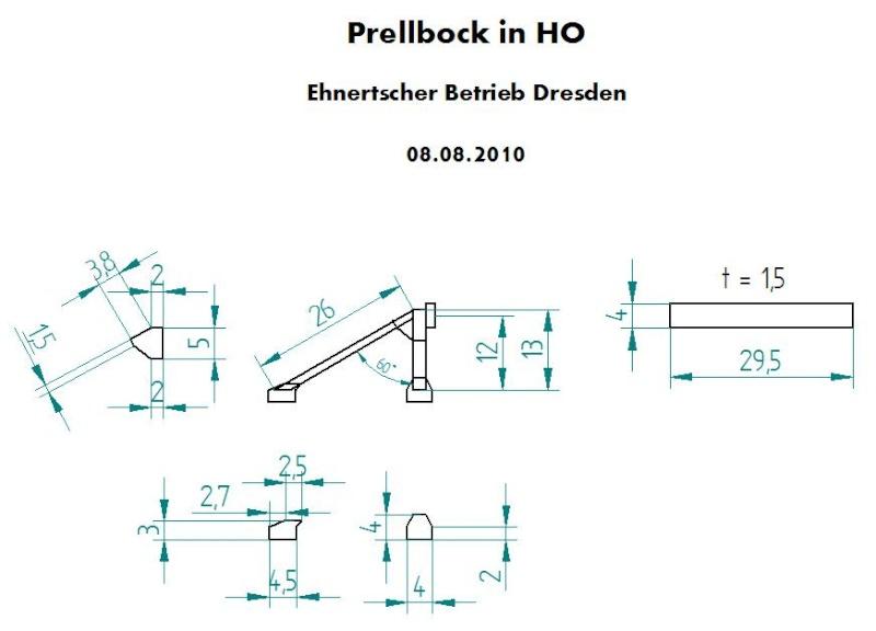 Ein einfacher Prellbock in HO 152-0010