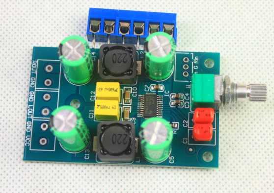 Mini TPA3123 Class D power amplifier board (DC10-25V power supply) Tpa31210