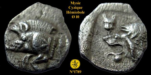 Hemiobole de Mysie pour la ville de Cyzique ... 178910
