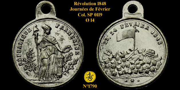 Médaille de la Révolution de 1848 ... 1790_c10
