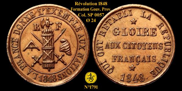 Médaille de la Révolution de 1848 ... 1791_c10