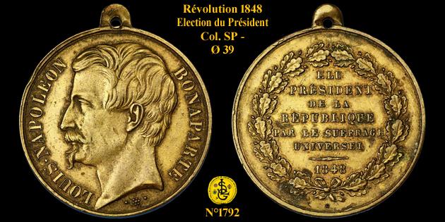 Médaille de la Révolution de 1848 ... 179210