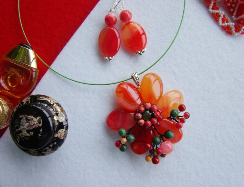 """""""Flori de piatră-Bijoux"""" albumul I-bijuterii artizanale marca Didina Sava - Pagina 12 Colie150"""