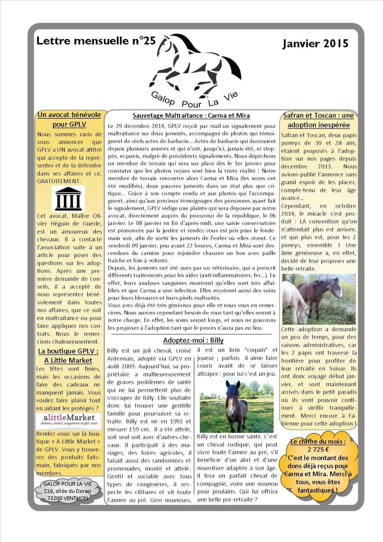 GPLV - Lettre mensuelle n°25 - Janvier 2015 Nl_jan10