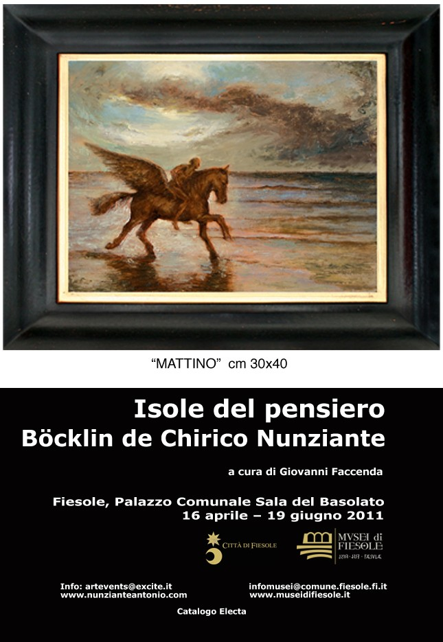 "FIESOLE ""Isole del pensiero"" Böcklin-de Chirico-Nunziante 13011110"