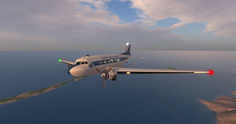Photographie du DC 3 avec roues Snapsh21