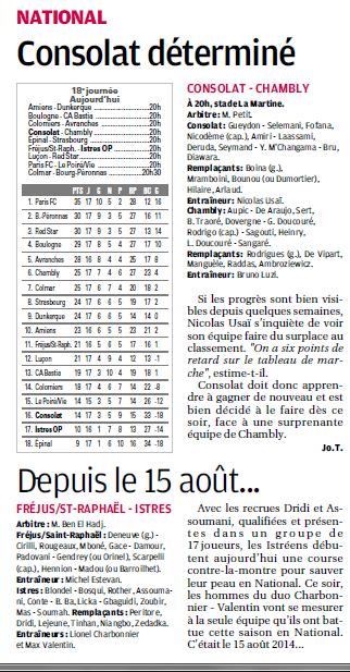 18E JOURNEE : MARSEILLE CONSOLAT - FC CHAMBLY  VENDERDI 16 JANVIER 2015 7a10
