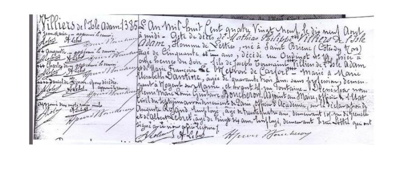 Auguste VILLIERS DE L'ISLE-ADAM 1838-1889 Sans_264