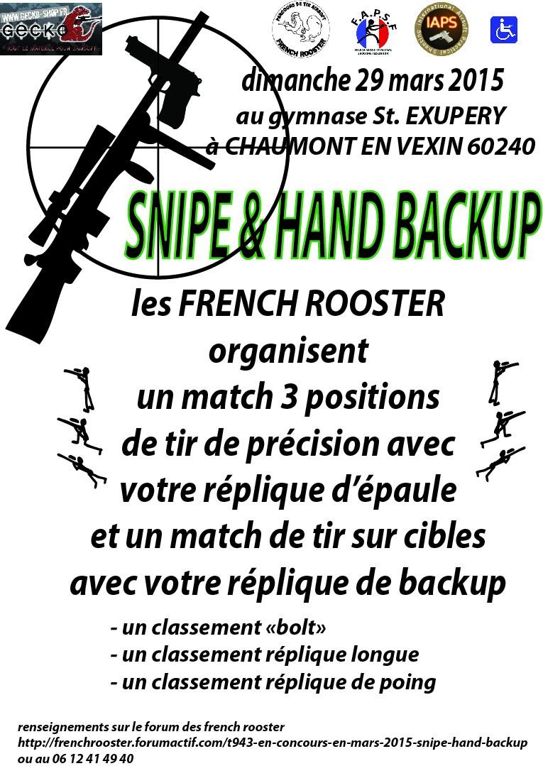 """en concours en mars 2015 """"SNIPE & HAND BACKUP"""" Affich16"""
